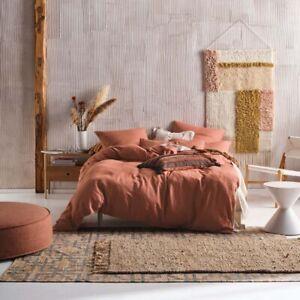 Linen House Nimes Rust Doona Quilt Cover Set Queen, King, Super King Sizes