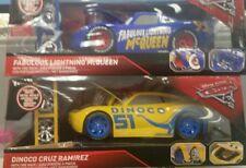 Disney Cars 3 Fabulous Lightning Mcqueen Dinoco Cruz Ramirez Jada 1:24 Tire Rack