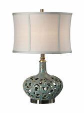Volu Abstract Swirl Ceramic Table Lamp by Uttermost #27720-1