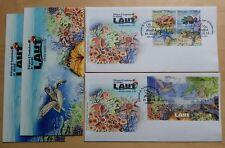 2012 Malaysia Underwater Life 4v Stamp & MS on 2 FDC (Melaka Cachet)