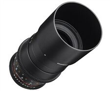 Samyang 100mm T3.1 MACRO ED UMC VDSLR Cine Lente Canon Mount-Apri EF BOX