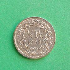1969 Suiza 1/2 Franco mitad SNo50564