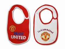 OFFICIAL MANCHESTER UNITED FC 2PK  BABY BIBS
