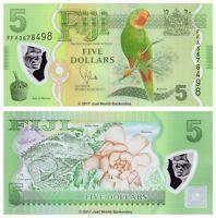 Fiji 5 Dollars 2013 Polymer First Prefix  P-115 Banknotes UNC