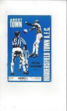 Huddersfield Town v Norwich City 1969/70 Football Programme
