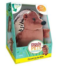 Sequin Pets Activity Kit - Creativity for kids - Happy the Hedgehog Plush Toy