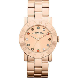 *NEW* MARC BY MARC JACOBS LADIES WATCH MBM3142 - AMY MULTI GLITZ ROSE GOLD TONE