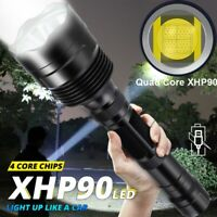 8000 Lumens Zoomable XHP90 LED USB Rechargeable Flashlight Torch Super Bright SI