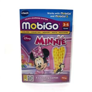 VTech MobiGo Disney Minnie Mouse Learning Game Cartridge New & Sealed