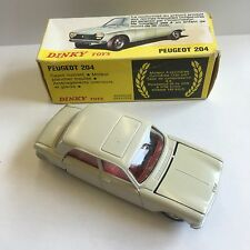 Vintage Dinky Toys No. 510 Peugeot 204 Car White Boxed Made In Spain