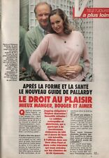 Coupure de presse Clipping 1992  Pierre Pallardy le droit au plaisir  (3 pages)