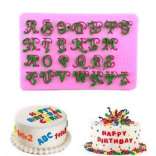 Alphabet English Letters 3D Silicone Decor Tool Baking Mould Decoration Dessert