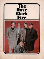 DAVE CLARK FIVE 1965 AMERICAN TOUR CONCERT PROGRAM BOOK: SIGNED BY THE SHAMROCKS