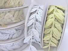 "10 yards Gold Or Silver Vine Leaves 1"" Garland Ribbon/Craft/Trim/Leaf/Ro ll R83"