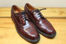 Vintage Burgundy Leather Sole Wingtip Dress Shoes 10.5 D