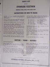 1954 Evinrude Fleetwin 7514 7515 7516 7517  Outboard Parts List MORE IN STORE  L
