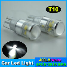 2x T10 HID White 3535 High Power LED Bulbs side mark parking light projector w5w
