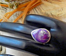 Sterling Silver Purple Mohave Turquoise Pear Teardrop Ring Size 8.25
