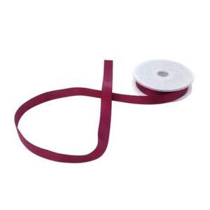 Double Faced Burgundy Satin 15mm Ribbon 3 Sizes Avaliable