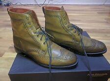 Allen Edmonds Dalton Dress Boots, Size 8.5 3E/EEE, Walnut, w/ Shoe Trees & Bags