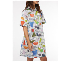 🔵NEW Gorman x Julia Flanagan Cotton Shirts Dot Com Swing Dress 14/16🔵