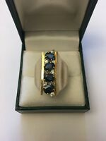 Vintage Antique 18k Gold Sapphire And Diamond Ring
