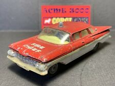 1963-65 Corgi Toys - 439 1959 CHEVROLET IMPALA FIRE CHIEF - Red/White - NO BOX