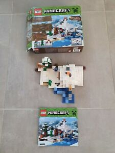 Lego Minecraft 21120 : La cachette dans la neige / The Snow Hideout (complet)
