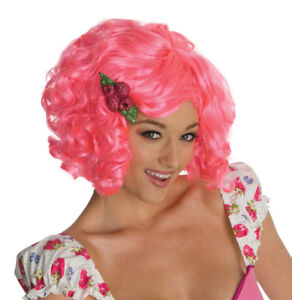 Womens Adult Strawberry Shortcake Short Pink Deluxe Rasberry Tart Costume Wig