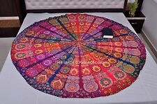 Indian Wall Hanging Patchwork Round Hippie Tapestry Ethnic Table Cloth Bohemian