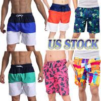 US STOCK!!! Board Shorts Beach Surf Swimsuit Leisure Quick-dry Swim Trunks S-5XL