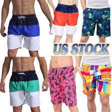 Mens Swim Trunks Eagle Globe Anchor USMC Beach Board Shorts Quick Dry Sports Running Swim Board Shorts with Pockets Mesh Lining