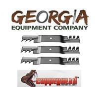 "3 USA made 60"" JOHN DEERE M128485 commercial copperhead mulching 7 IRON blades"