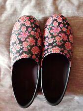 Red Floral Crocs Size 11