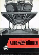 Columbus Auto- Hebe- Bühnen, orig. Prospekt 50er Jahre