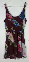 Abercrombie and Fitch Womens Dress Small Floral Multicolor Lace Back Sleeveless