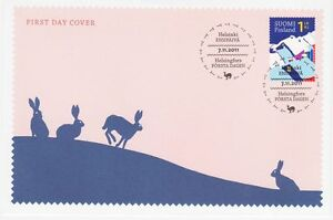 Christmas Night Rabbit Arctic Mountain Bunny Hare Finland Mint FDC 2011