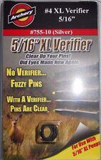 "Specialty Archery 5/16"" Peep Sight Aperture Verifier XL Lens #4 Silver #755-10"
