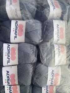 Adriafil Mirage Colour 14 Dk Wool. 10 X 50g Balls Grey