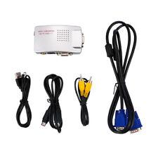 PC RCA AV VGA To TV NTSC PAL Video Switch Box Audio Signal Adapter Converter