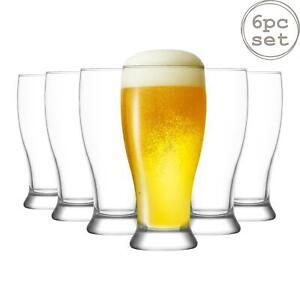 6x Brotto Classic Beer Glasses Large Pub Bar Pint Pilsner Glass 565ml