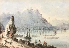 Hong Kong Island - Antique Watercolor - c1870s - Miniature