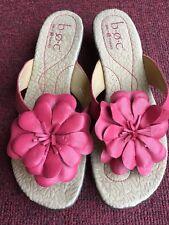 New  B.O.C Born Womens SANDALS sz 9 pink Leather Flower flip flop  NEW!!!