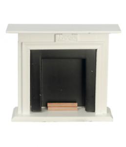 Puppenhaus Weiß & Schwarz Kamin Mit Brennholz Miniatur Möbel 1:12 Maßstab