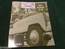 MINT 1997 SUZUKI X-90 ORIGINAL 12 PAGE SALES BROCHURE W/ COLOR CHART (8-B)