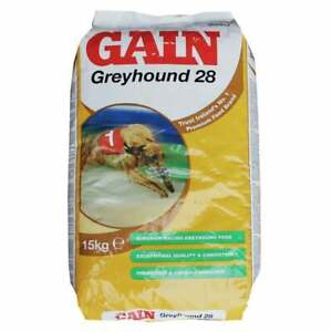 Gain Greyhound 28 Racing Greyhound Whippet Dog Food 30Kg FREE NEXT DAY DELIVERY