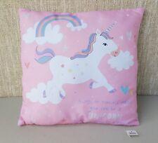 Unicorn Cushion by LEONARDO Soft Pink Purple Silver