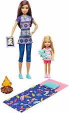 Barbie Sisters Camping Fun 2 doll set Skipper and Chelsesa pack