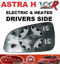 VAUXHALL ASTRA H MK5 VXR ELECTRIC HEATED WING MIRROR GLASS DRIVERS OFF SIDE NEW