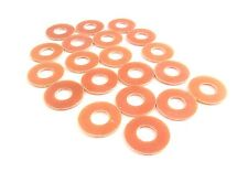 20 pack Tattoo Coil Washers - Choose Brown Phenolic or White Acrylic